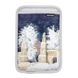 Winter gate at night iPad mini sleeve