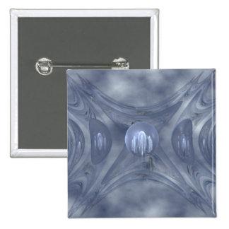 Winter Gates Abstract Art 15 Cm Square Badge