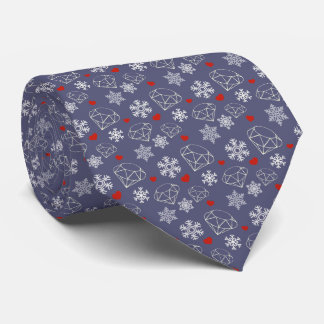 Winter Gemstone Diamonds and Snowflakes Tie