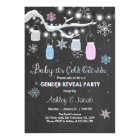 Winter Gender reveal invitation It's Cold Outside