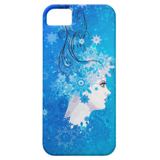 Winter girl illustration iPhone 5 case