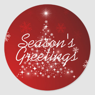 Winter Glow • Season's Greetings Classic Round Sticker
