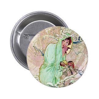 Winter Goddess 6 Cm Round Badge