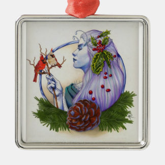 Winter Goddess Metal Ornament
