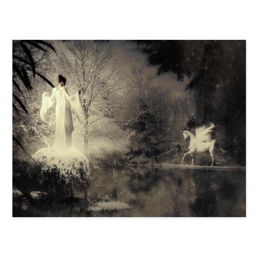 Winter Goddess Post Card