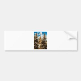 Winter Gol Church Minot North Dakota Bumper Sticker