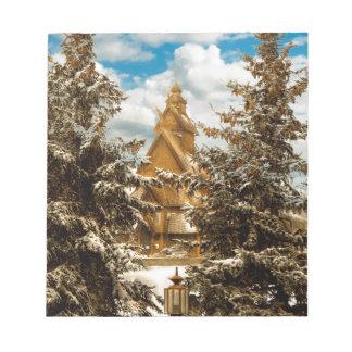 Winter Gol Church Minot North Dakota Notepad