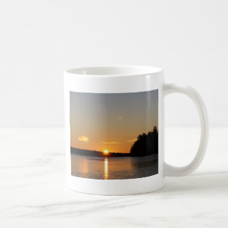 Winter Golden Sun Ray Reflects on Junior Lake Coffee Mug