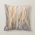 Winter grass abstract cushion