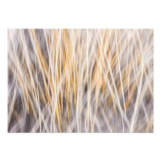 Winter grass abstract custom invitation