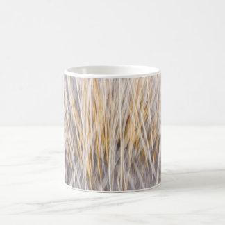 Winter grass abstract mugs