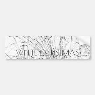 Winter Grass In Snow Bumper Sticker