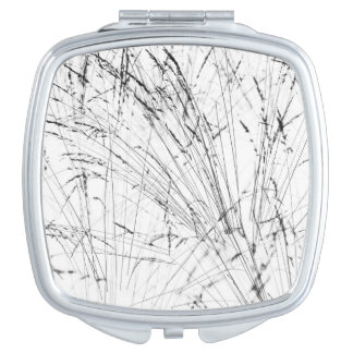 Winter Grass In Snow Compact Mirror