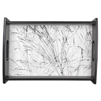 Winter Grass In Snow Serving Tray