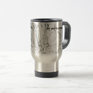 Winter Grass In Snow Travel Mug