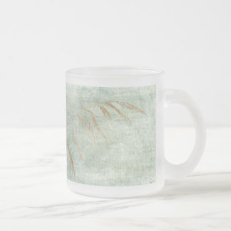 Winter Grass 10 Oz Frosted Glass Coffee Mug