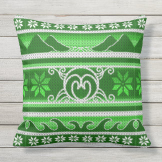 Winter Green Nordic Design Cushion