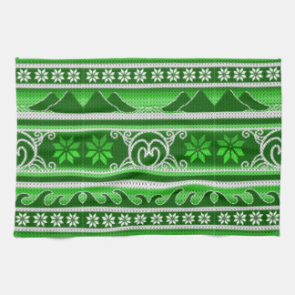 Winter Green Nordic Design Tea Towel