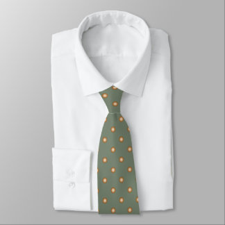 Winter Green with Copper Polka Dots Tie