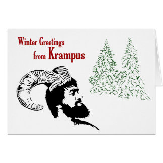 Winter Greetings from Krampus Card