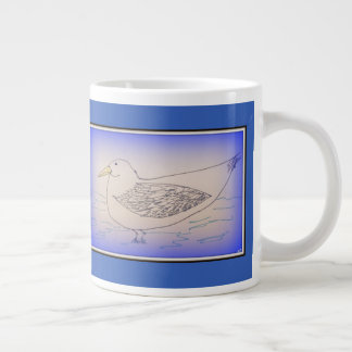 Winter Gull Large Coffee Mug