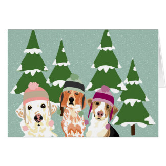 Winter Hat Holiday Card