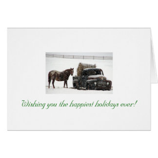 winter-hay-delivery, Wishing you the happiest h... Card