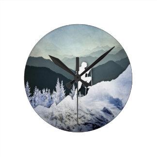 Winter Hike Round Clock