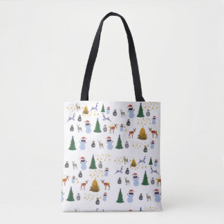 Winter Holiday  All-Over-Print Tote Bag