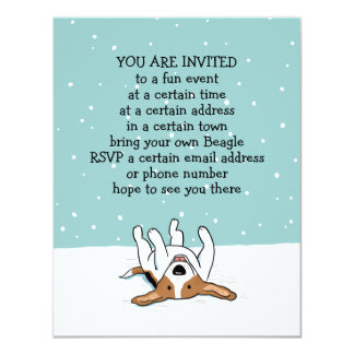 Winter Holiday Beagle Party Announcements
