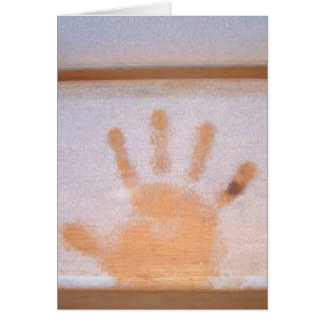 """Winter Holiday Card: """"hand print in frost"""" Card"""