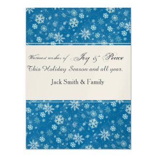 Winter  Holiday Falling SnowFlakes 17 Cm X 22 Cm Invitation Card