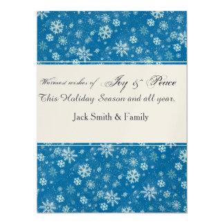 "Winter  Holiday Falling SnowFlakes 6.5"" X 8.75"" Invitation Card"