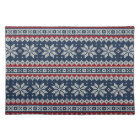 Winter Holiday Knitted Pattern Placemat