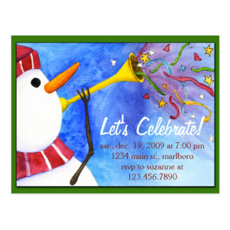 Winter Holiday Party Invitation Postcard