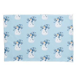 Winter Holiday Pillow Case-Snowman Pillowcase