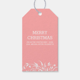 Winter Holidays Blush Gift Tags