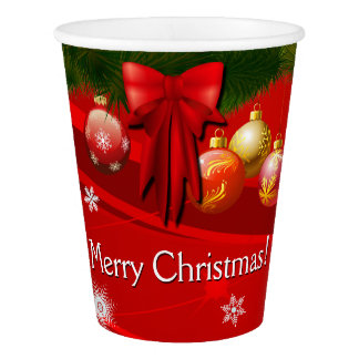 Winter Holidays Ornaments Paper Cup