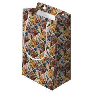 Winter Holidays Ribbon Small Gift Bag