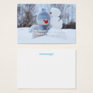 Winter Holidays Snowman Greeting Business Card