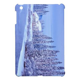 Winter Home Sunrise On Alaska River Case For The iPad Mini