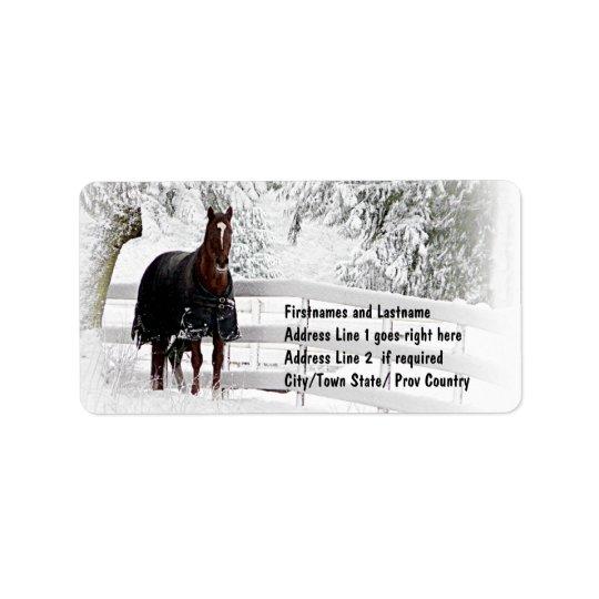 Winter Horse Address Label