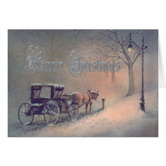 WINTER HORSE & BUGGY by SHARON SHARPE Card