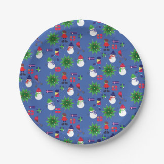 Winter Ice Skating Print 7 Inch Paper Plate