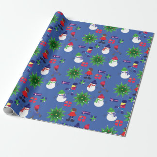 Winter Ice Skating Print Wrapping Paper