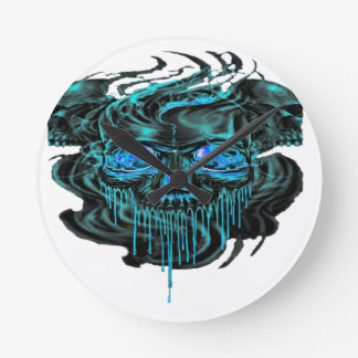 Winter Ice Skeletons PNG Round Clock