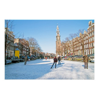 Winter in Amsterdam the Netherlands Poster