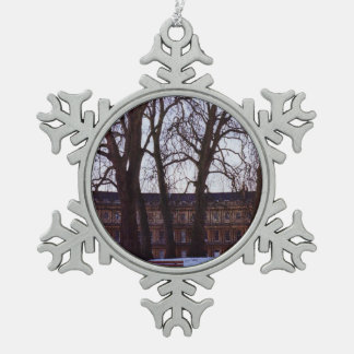 Winter in Bath Snowflake Pewter Christmas Ornament