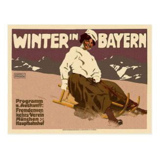 Winter In Bayern Vintage Postcard