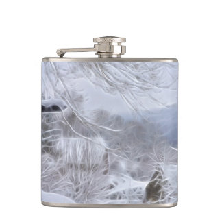 winter in France Hip Flask